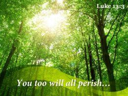 Luke 13 3 You Too Will All Perish Powerpoint Church Sermon