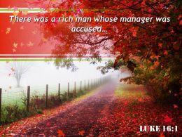 Luke 16 1 There Was A Rich Man Whose Powerpoint Church Sermon