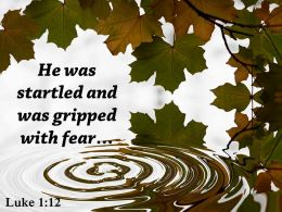 Luke 1 12 Hewas Startled And Was Gripped Powerpoint Church Sermon