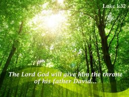 Luke 1 32 The Lord God Will Give Powerpoint Church Sermon