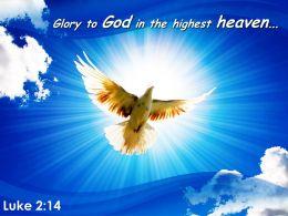 Luke 2 14 Glory To God In The Highest Powerpoint Church Sermon