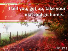 Luke 5 24 I Tell You Get Up Take Powerpoint Church Sermon