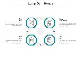 Lump Sum Bonus Ppt Powerpoint Presentation File Portrait Cpb