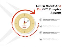Lunch Break At 2 Pm Ppt Samples Layout