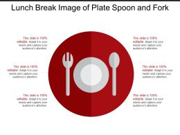 Lunch Break Image Of Plate Spoon And Fork
