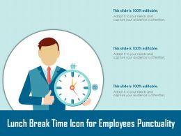 Lunch Break Time Icon For Employees Punctuality