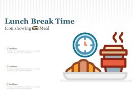 Lunch Break Time Icon Showing Meal