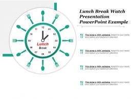 Lunch Break Watch Presentation Powerpoint Example