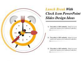 lunch_break_with_clock_icon_powerpoint_slides_design_ideas_Slide01