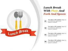 Lunch Break With Plate And Fork And Spoon