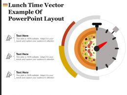 Lunch Time Vector Example Of Powerpoint Layout