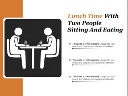 Lunch Time With Two People Sitting And Eating