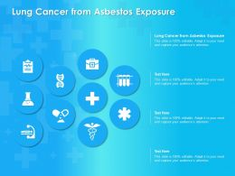 Lung Cancer From Asbestos Exposure Ppt Powerpoint Presentation Infographic Template
