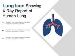 Lung Icon Showing X Ray Report Of Human Lung