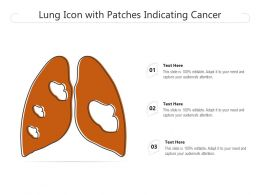 Lung Icon With Patches Indicating Cancer