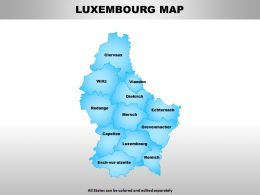 Luxembourg Map Powerpoint Maps