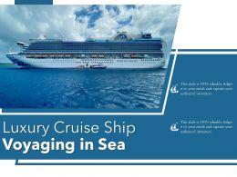 Luxury Cruise Ship Voyaging In Sea