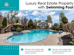 Luxury Real Estate Property With Swimming Pool
