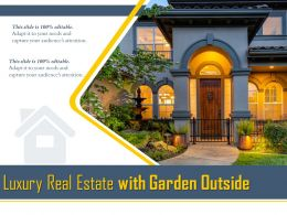 Luxury Real Estate With Garden Outside