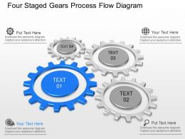 lv Four Staged Gears Process Flow Diagram Powerpoint Template