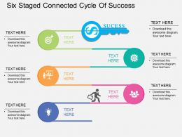 Lv Six Staged Connected Cycle Of Success Flat Powerpoint Design
