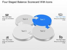 Lw Four Staged Balance Scorecard With Icons Powerpoint Template Slide