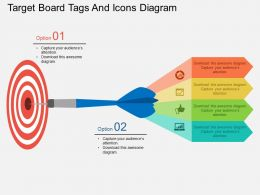 lw Target Board Tags And Icons Diagram Flat Powerpoint Design