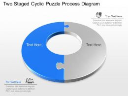 lw Two Staged Cyclic Puzzle Process Diagram Powerpoint Template
