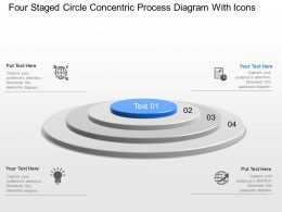 Lx Four Staged Circle Concentric Process Diagram With Icons Powerpoint Template Slide