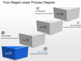 lx Four Staged Linear Process Diagram Powerpoint Template