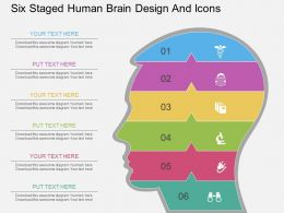 Lx Six Staged Human Brain Design And Icons Flat Powerpoint Design
