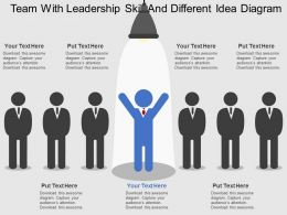 lx Team With Leadership Skill And Different Idea Diagram Flat Powerpoint Design