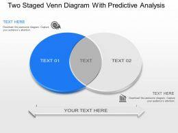 lx Two Staged Venn Diagram With Predictive Analysis Powerpoint Template