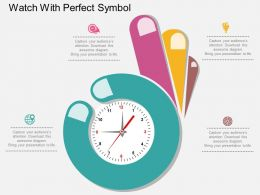 lx Watch With Perfect Symbol Flat Powerpoint Design
