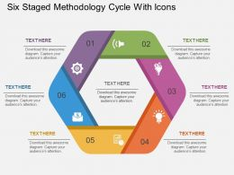 Ly Six Staged Methodology Cycle With Icons Flat Powerpoint Design