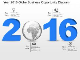ly Year 2016 Globe Business Opportunity Diagram Powerpoint Template