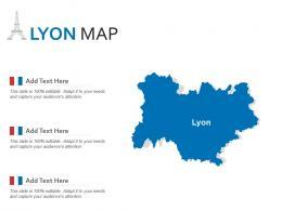 Lyon Map Powerpoint Presentation PPT Template