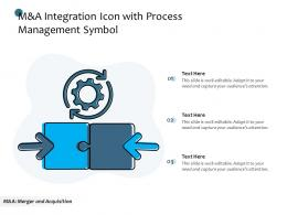 M And A Integration Icon With Process Management Symbol
