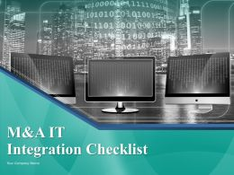 M and a It Integration Checklist Powerpoint Presentation Slides