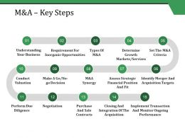 M and A Key Steps Ppt Styles Example