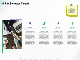 M And A Synergy Target Ppt Powerpoint Presentation Professional Gallery