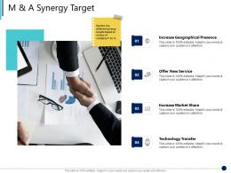 M And A Synergy Target Synergy In Business Ppt Structure