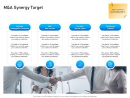 M And A Synergy Target Transfer Ppt Powerpoint Presentation Icon Graphics Template