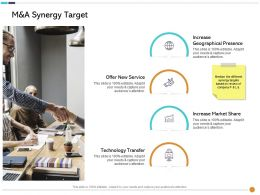M And A Synergy Target Your Needs Ppt Powerpoint Presentation Layouts Infographic Template