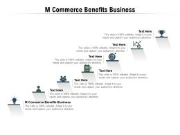 M Commerce Benefits Business Ppt Powerpoint Presentation Slides Example Introduction Cpb