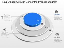 Ma Four Staged Circular Concentric Process Diagram Powerpoint Template Slide