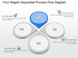 ma Four Staged Sequential Process Flow Diagram Powerpoint Template