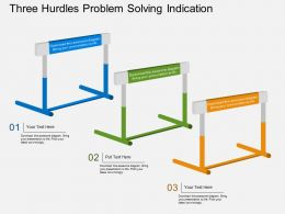 ma Three Hurdles Problem Solving Indication Flat Powerpoint Design