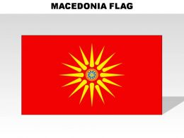 Macedonia Country Powerpoint Flags