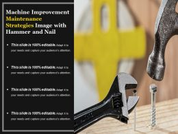 Machine Improvement Maintenance Strategies Image With Hammer And Nail